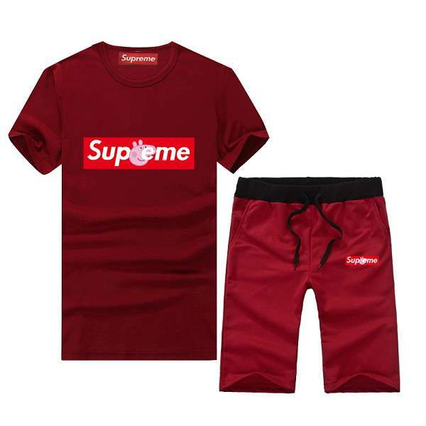 supreme套裝 2018新款 經典簡約男生圓領短袖套裝 PF06