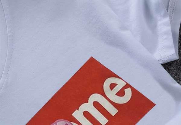 supreme t恤 2018新款 佩奇字母男生休閒圓領短袖T恤 MG