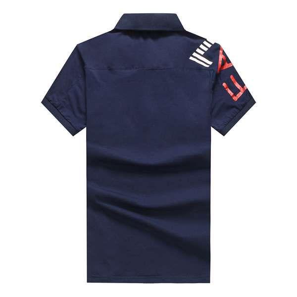 emporio armani衣服 2018新款 字母翻領男生短袖polo衫 902款寶藍
