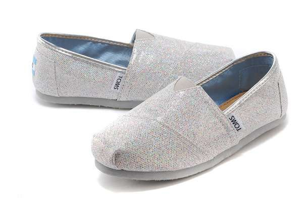 toms鞋 經典鞋款 亮片女士平底單鞋