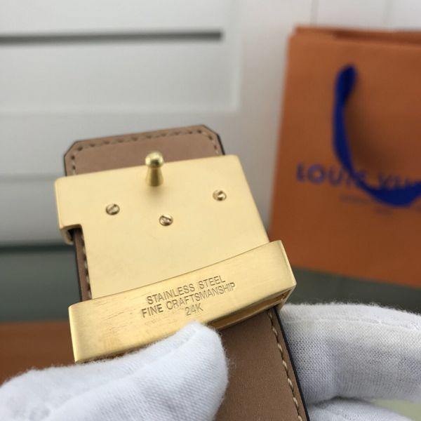 lv皮帶目錄 路易威登2018新款 HF47老花格紋百搭鋼扣腰帶