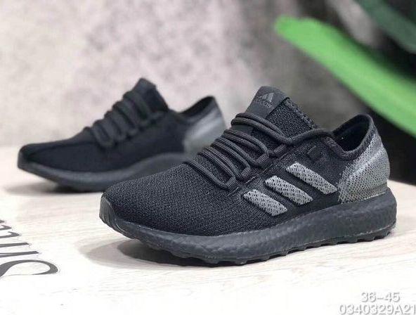 Adidas Pure Boost GO 2019新款 魚鱗爆米花系列情侶款慢跑鞋