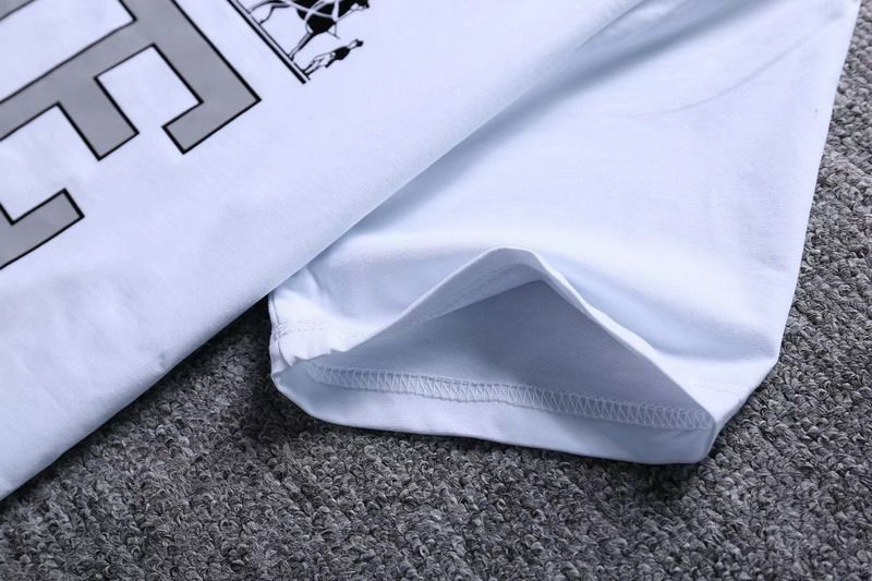 hermes 衣服 2018夏季新款 字母印花圓領男生短袖T恤 白色