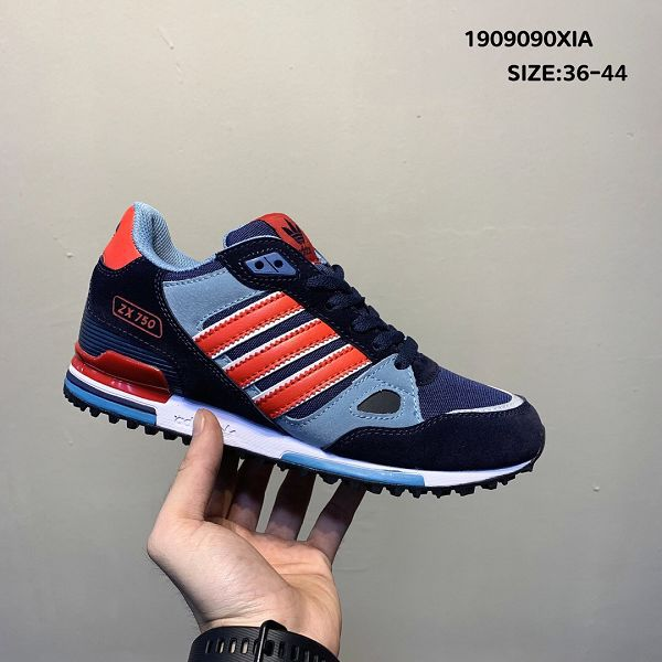 adidas originals zx750 2019新款 三葉草復古情侶款休閒慢跑鞋