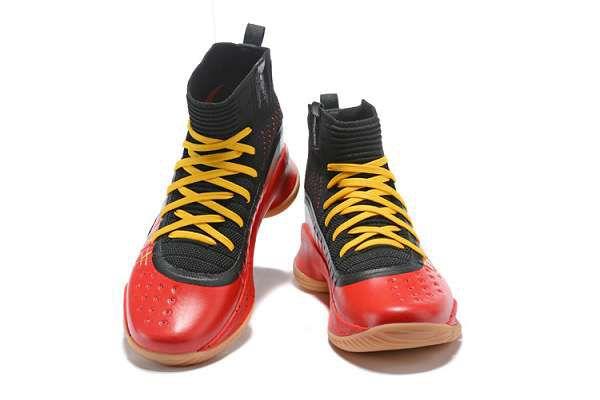 under armour Curry 4 2018新款 庫裏4代高幫男生籃球鞋 勇士黑藍紅