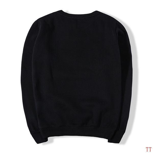adidas T恤 2016新款 鞋子印花三葉草時尚男生純色圓領長袖T恤 黑色