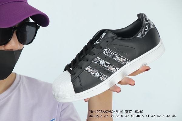 Adidas Superstar 2019新款 三葉草限定貝殼頭男女生板鞋 帶半碼