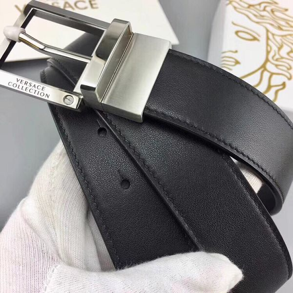 versace皮帶 範思哲2018新款 ZJ牛皮鋼扣時尚腰帶