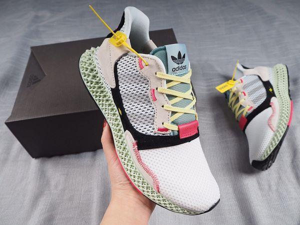 Adidas Consortium ZX 4000 2019新款 4D打印拼接男生慢跑鞋
