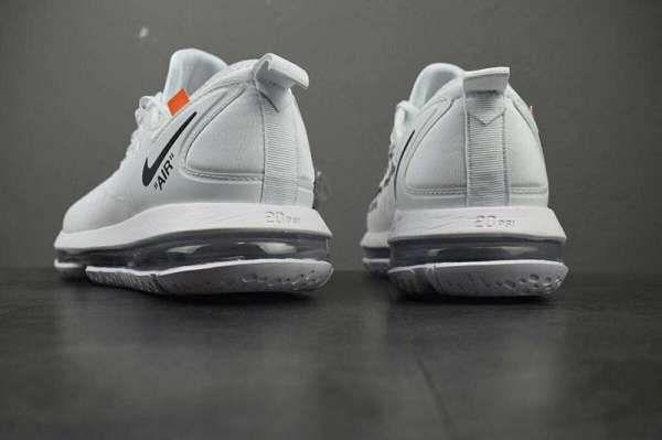 Nike Air Vapormax FK x OFF WHITE 2018新款 聯名限量空氣氣墊情侶慢跑鞋 白色