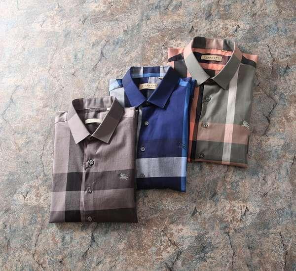 burberry巴寶莉 2018新款 商務格紋男生休閒短袖襯衫 MG