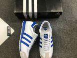 adidas板鞋 2018新款 皮質男生休閒板鞋 白藍
