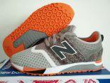 revlite new balance 247 全新創作型號classic系列大網面拼接時尚情侶款跑鞋 灰橘色