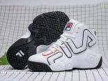 fila鞋 2018新款 高幫增高情侶運動籃球鞋 白色