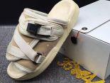 clot x suicoke 涼鞋 2017明星同款 純色復古織帶時尚情侶沙灘拖鞋 米白色