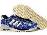 adidas originals zx700 flux 陳冠希上腳款 三葉草星空夜光款情侶跑鞋 藍色