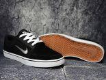 nike sb portmore cnvs 滑板鞋 2017帆布新款 豬八革低幫時尚男生板鞋 黑白色
