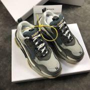 balenciaga鞋 巴黎世家2018新款慢跑鞋 3203組合底拼接情侶鞋 灰底