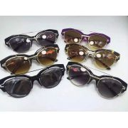 versace台灣官網 凡賽斯新款潮流墨鏡 2154創意時尚半框太陽眼鏡