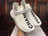 adidas Human Race NMD 2018新款 菲董聯名款網面情侶休閒慢跑鞋 chanel白色