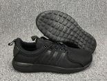 adidas neo系列 2017新款 網面透氣時尚男生低幫板鞋 黑色