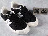 New Balance 板鞋 紐巴倫尼龍帆布情侶板鞋 黑白色