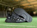 Adidas NMD R1 2018新款 骷髏經典休閒童鞋 黑色