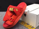clot x suicoke 涼鞋 2017明星同款 純色復古織帶時尚情侶沙灘拖鞋 紅色