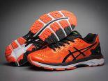 asics慢跑鞋 紐約馬拉松紀念版 亞瑟士緩震時尚男鞋 橘黑色