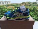 ASICS GEL-Nimbus 17 網面時尚男生慢跑鞋 藍綠色