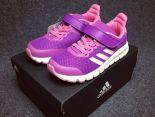 adidas 清風系列 2017新款 魔術貼休閒兒童運動鞋 紫粉色