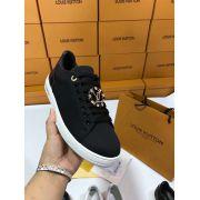 louis vuitton鞋 路易威登2018新款板鞋 A515180牛皮帆布時尚女鞋 黑色
