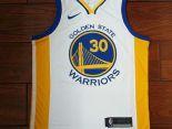 nba球衣 夏季新款 勇士吸汗透氣籃球服 30號白黃