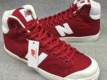 New Balance 板鞋 紐巴倫情侶休閒帆布中筒板鞋 紅色