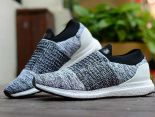 adidas Ultra Boost Laceless 2018新款 無鞋帶針織情侶襪子慢跑鞋 灰黑白