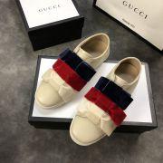 gucci鞋 古馳2018新款休閒鞋 200牛皮時尚女鞋 藍紅白