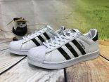 adidas superstar 三葉草貝殼頭 迷彩花紋時尚情侶款板鞋 白黑色