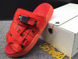 clot x suicoke 涼鞋 2017明星同款 骷髏頭復古織帶時尚情侶沙灘拖鞋 紅色