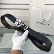 versace皮帶專櫃 範思哲2018新款 HF102牛皮壓花紋鋼扣時尚腰帶