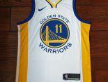 nba球衣 夏季新款 勇士吸汗透氣籃球服 11號白黃