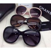 chanel眼鏡 香奈兒2017新款墨鏡 5302時尚淑女風圓框太陽眼鏡