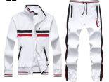 polo raphael lauren 665款 小馬刺繡標撞色條紋男生夾克套裝 白色