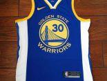 nba球衣 夏季新款 勇士吸汗透氣籃球服 30號藍白