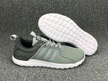adidas neo系列 2017新款 網面透氣時尚男生低幫板鞋 灰白色