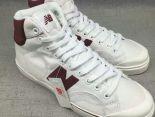 New Balance 板鞋 紐巴倫情侶休閒帆布中筒板鞋 白紅色