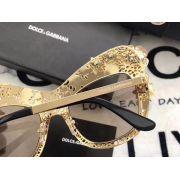 d&g專櫃 2018年新款 4236全框狐狸眼鑲珠時尚墨鏡