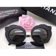 chanel眼鏡 香奈兒2017新款墨鏡 香奈兒9528山茶花造型時尚太陽眼鏡