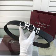 salvatore ferragamo皮帶 菲拉格慕2018新款 HF79牛皮荔枝紋鋼扣腰帶
