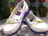 crocs鞋 夏季新款 時尚沙灘帆船鞋 女生系帶洞洞鞋 白色