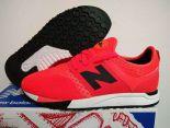 revlite new balance 247 全新創作型號classic系列針織網面時尚情侶款跑鞋 紅黑色